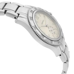 Movado Gentry Steel 28mm Diamond Bezel Silver Dial Quartz Ladies Watch