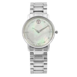 Movado TC Museum Steel MOP Dial Diamond Quartz Ladies Watch 0606691