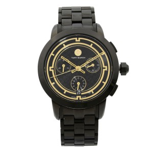 Tory Burch Black Ion Plated Stainless Steel Quartz Ladies Watch TRB1025