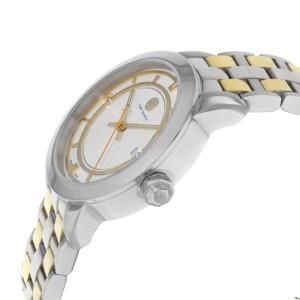 Tory Burch Cream Dial Date Two Tone Steel Quartz Ladies Watch TRB1014