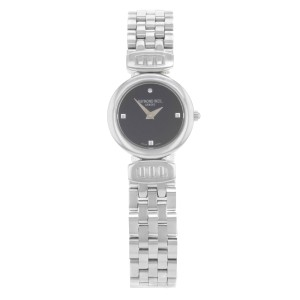 Raymond Weil Chorus Steel Black Dial Quartz Ladies Watch 5890-ST-20082