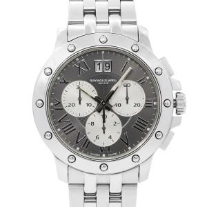 Raymond Weil Tango Gray Roman Dial Steel Quartz Mens Watch 4899-ST-00668
