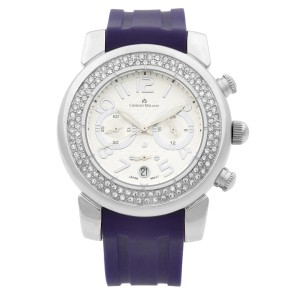 Giorgio Milano Stainless Steel Chronograph White Dial Quartz Watch 869ST0116
