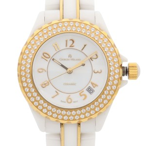 Gorgio Milano Ceramic White Dial Quartz Ladies Watch GM7060GLWH