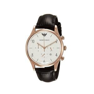Emporio Armani Men's AR1916 Dress Black Leather Watch