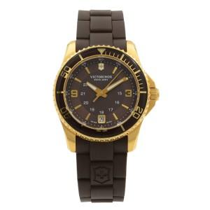 Victorinox Maverick GS 34 mm Brown Dial Brown Rubber Strap Womens Watch 241615