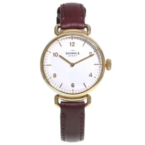 Shinola The Canfield Brown Leather Steel White Dial 20018133 Ladies Quartz Watch