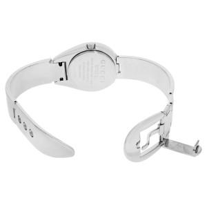 Gucci 6700 L Petite Belt Buckle Bracelet Steel Mirror Dial Quartz Watch YA067504
