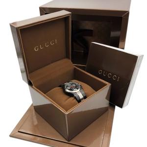 Gucci G-Chrono Titanium Black Dial Ladies Quartz Luminescent Watch YA124402