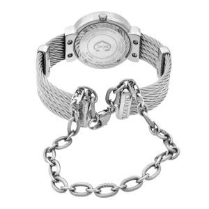 Charriol St Tropez MOP Diamond Dial Steel Quartz Ladies Watch ST30SD.560.008