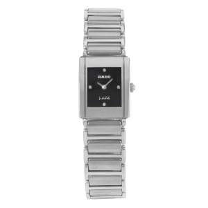 Rado Integral Jubile Ceramic Black Dial Steel Quartz Ladies Watch R20488722