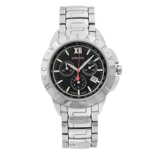 Versace V-Sport Stainless Steel Black Dial Quartz Mens Watch 12C99D009S099