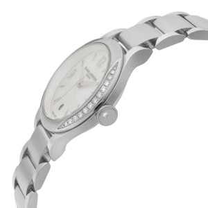 Baume et Mercier Ilea Steel Diamond Bezel MOP Dial Quartz Ladies Watch MOA08771