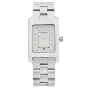 Baume et Mercier Hampton Stainless Steel White Dial Quartz Mens Watch MOA08604