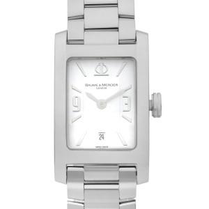 Baume and Mercier Hampton Steel White Dial Quartz Ladies Watch M0A08813