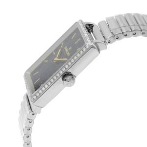 Gomelsky Shirley Fromer Steel Black Dial Diamond Quartz Womens Watch G0120072643
