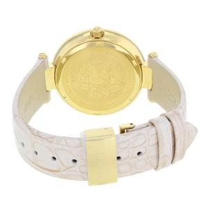 Versace Olympo Crystal Gleam Pink Dial Gold Tone Steel Quartz Watch VAN050016