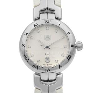 TAG Heuer Link Silver Dial Date Steel Leather Quartz Ladies Watch WAT1411.FC6316
