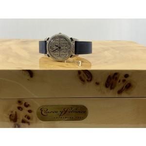 Cuervo Y Sobrinos Historiador Diamonds Sapphire Leather Ladies Watch 3112.1SP-SP