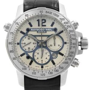 Raymond Weil Nabucco Titanium Steel Leather Automatic Mens Watch 7820-STC-05607