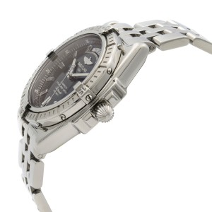 Breitling Headwind Day Date Steel Black Dial Automatic Mens Watch A45355