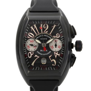 Frank Muller Conquistador PVD Steel Rubber Black Dial Mens Watch 8005 K CC NR