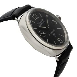 Panerai Radiomir Black Seal Steel Leather Black Dial Hand Wind Watch PAM00380