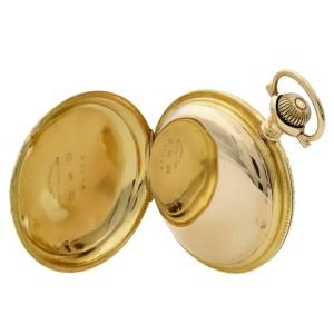 Waltham Rail Print 18k Gold 38113 Circa 1900-1910 Pocket Watch I4058053