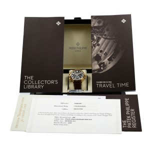 Patek Philippe Calatrava Pilot Travel Time 18K Rose Gold Automatic Watch 7234R