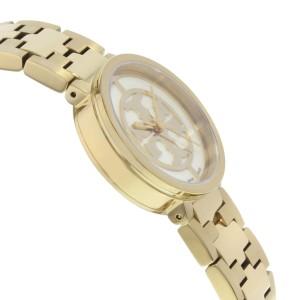 Tory Burch Reva Gold Toned Steel White Dial Quartz Ladies Watch TRB4011
