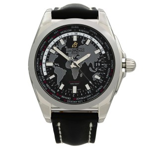 Breitling Galactic Unitime Steel Black Dial Automatic Watch WB3510U4/BD94-744P