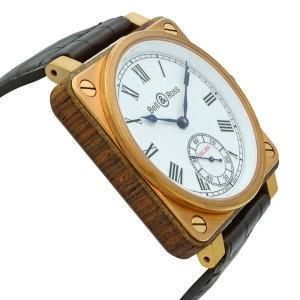 Bell & Ross Instrument De Marine Bronze Wood Manual Wind Watch BR01-CM-203