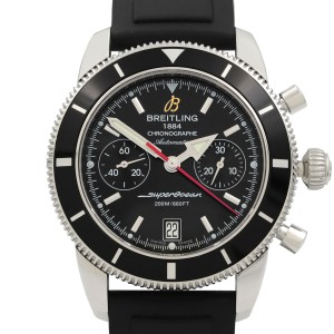 Breitling Superocean Chronograph Steel  Black Dial Automatic Mens Watch A23370