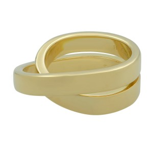 Cartier Nouvelle Vague 18k Yellow Gold Crossover Ring Size 51