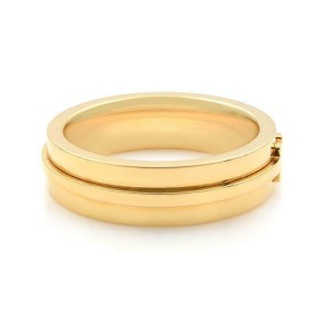 Tiffany & Co 18K Yellow Gold T Wide Unisex Ring Size 9