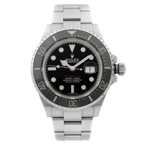 Rolex Sea-Dweller 43mm Steel Ceramic Black Dial Red Liner Mens Watch 126600