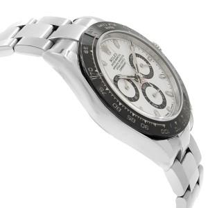 Rolex Daytona Cosmograph White Dial Steel Ceramic Automatic Men Watch 116500LN