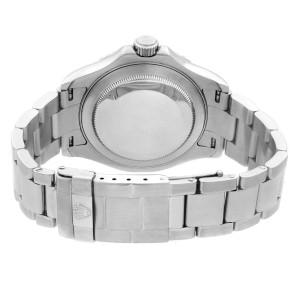 Rolex Yacht-Master 40Mm Steel Platinum Grey Dial No Holes Mens Watch 16622