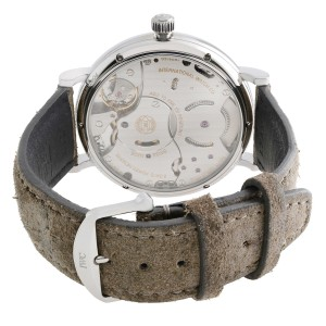 IWC Portofino Power Reserve Steel Gray Dial Hand WInd Mens Watch IW510115