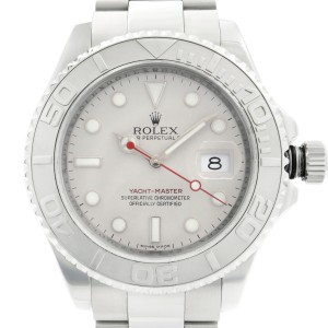 Rolex Yacht-Master 40mm Steel Platinum Grey Dial Automatic Mens Watch 16622