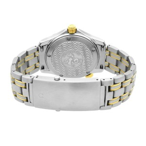 Omega Seamaster 300M 36mm Gold Steel White Dial Automatic Mens Watch 236.22.000