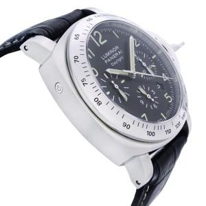 Panerai Luminor Daylight Steel Leather Black Dial Automatic Mens Watch PAM00250