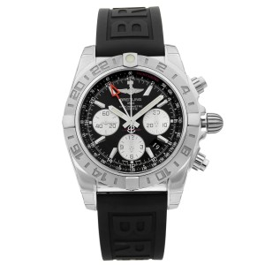Breitling Chronomat 44 Steel Black Dial Automatic Mens Watch AB042011/BB56-153S