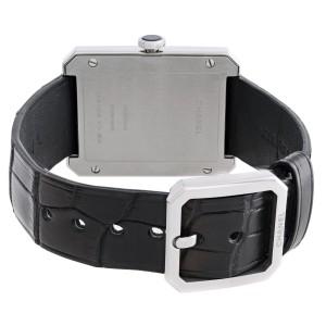 Chanel Boy-Friend Stainless Steel Black Dial Hand Wind Ladies Watch H5319