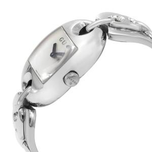 Gucci 121 Marina Chain MOP Dial Steel Quartz Ladies Watch YA121302
