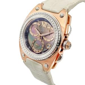 ESQ Movado Fusion Retrograde Gold Tone Steel MOP Dial Ladies Watch 07101300