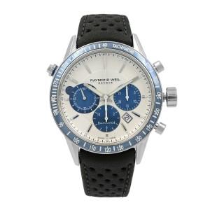 Raymond Weil Freelancer 43.5mm Steel Leather Automatic Mens Watch 7740-SC3-65521