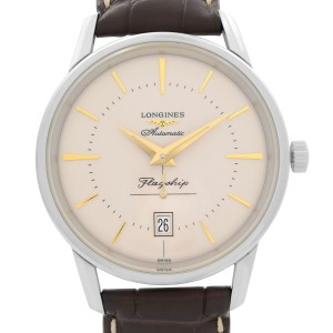 Longines Flagship Heritage Steel Cream Dial Automatic Mens Watch L4.795.4.78.2
