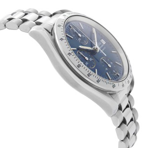 Omega Speedmaster Chronograph Steel Blue Dial Automatic Mens Watch 3511.80.00