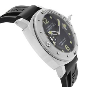 Panerai Luminor Submersible Steel Black Dial Automatic Mens Watch PAM01024